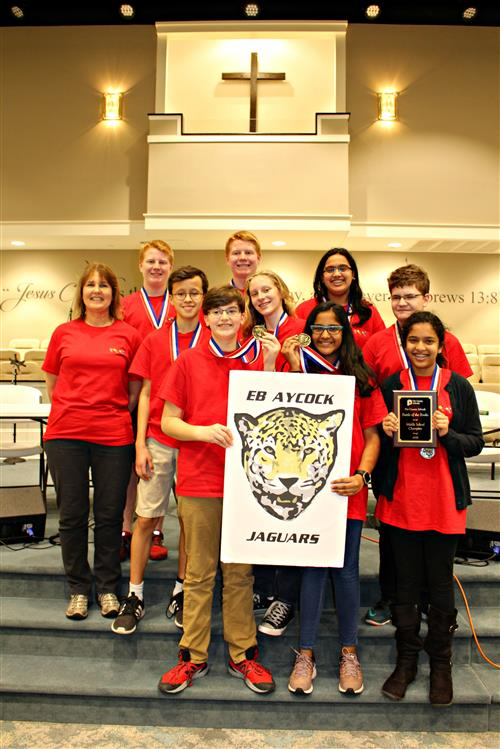E.B. Aycock Middle Wins Battle of the Books Competition