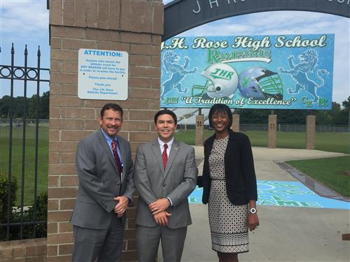 State Superintendent Johnson Visits J.H. Rose High