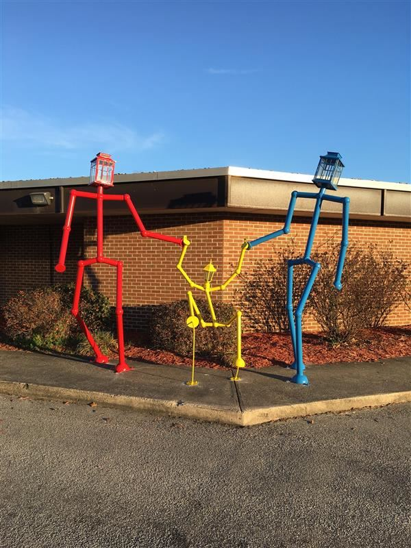 Sculpture on Display at Wahl-Coates Elementary School of the Arts