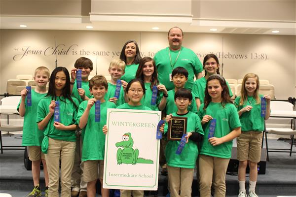 Wintergreen Top Team in Elementary Battle of the Books