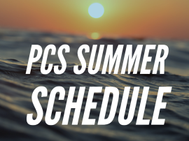 PCS Summer Schedule