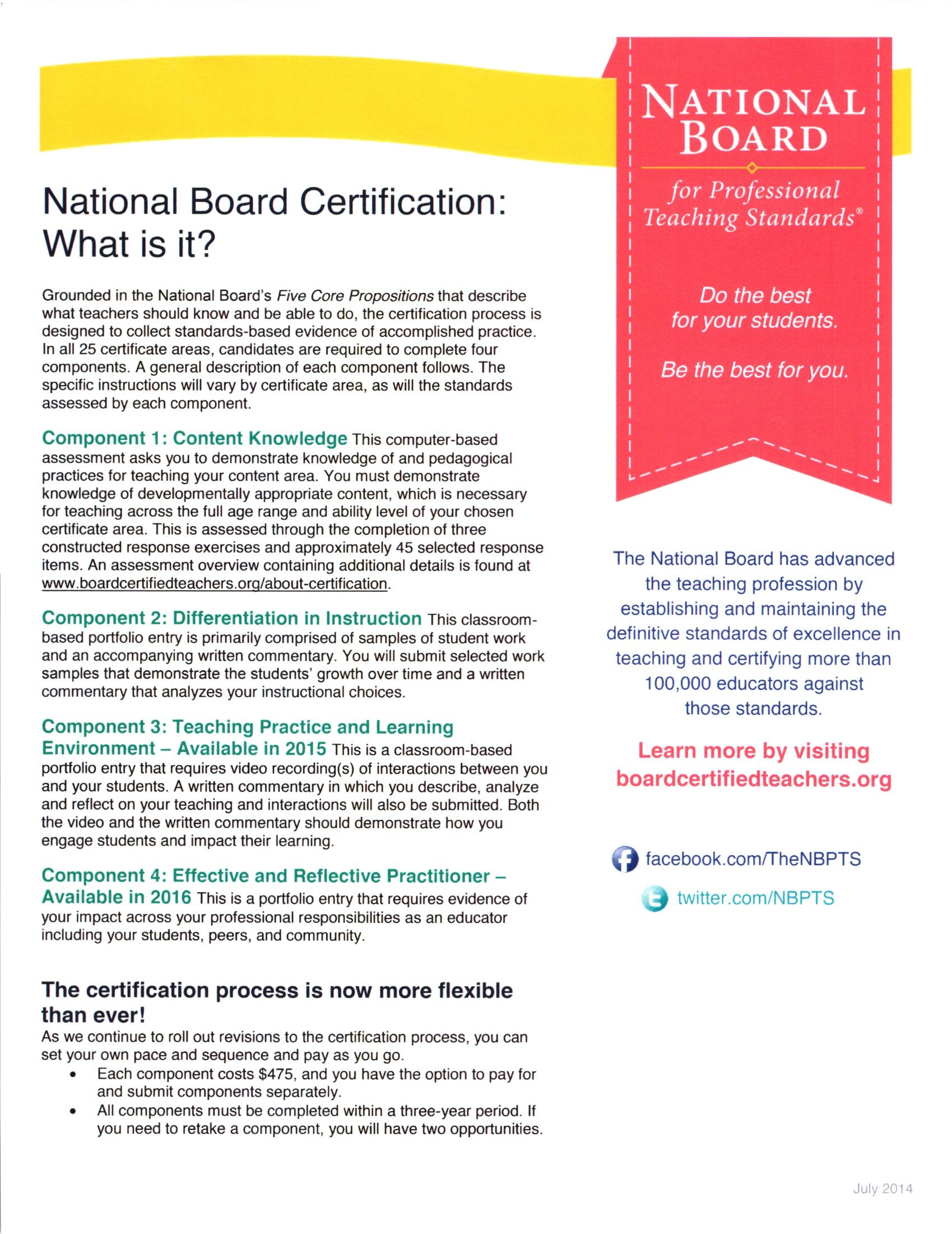 What is national board certification detail page what is national board certification certification process description 1betcityfo Gallery
