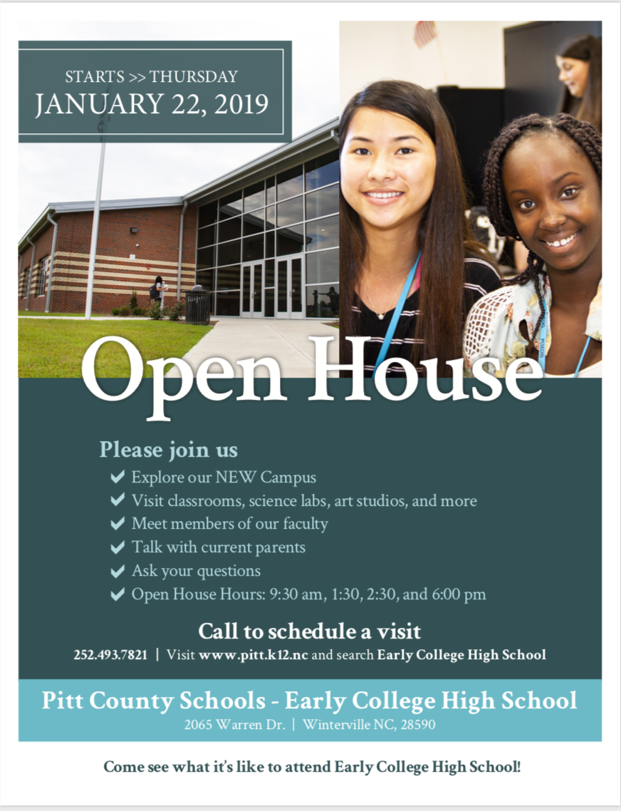 January 22nd Open House