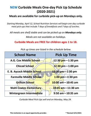 new curbside schedule