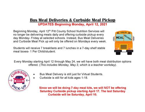 Updated Meal Pickup flyer