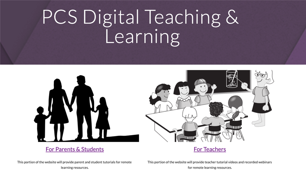 PCS Digital Teaching and Learning Resources