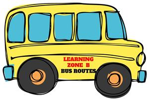 LEARNING ZONE B BUS ROUTES