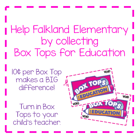 Send in your Box Tops to help us raise money.